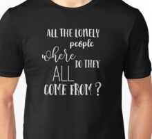 Eleanor Rigby - The Beatles - Vintage Typography Lyrics Unisex T-Shirt