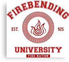Firebending Red Canvas Print