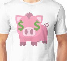 Pig Emoji Money Face Unisex T-Shirt