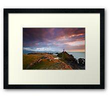 Llanddwyn Light Framed Print