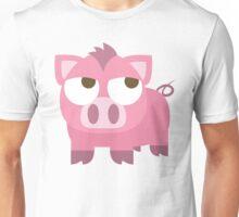 Pig Emoji Thinking Hard and Hmm Face Unisex T-Shirt