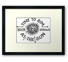 The Doors lyrics - take it As It Comes - Arrows Sun Vintage Design Framed Print