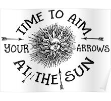 The Doors lyrics - take it As It Comes - Arrows Sun Vintage Design Poster