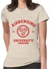 Airbending University Air Nomads - RED Womens Fitted T-Shirt
