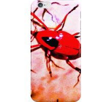 Red insect.  iPhone Case/Skin