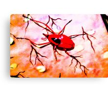 Red insect.  Canvas Print