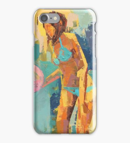Girl at the beach iPhone Case/Skin