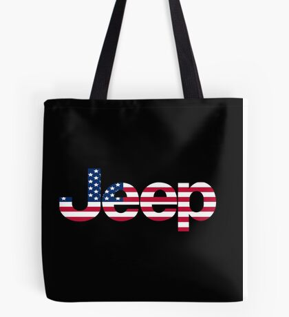 Jeep - USA flag Tote Bag