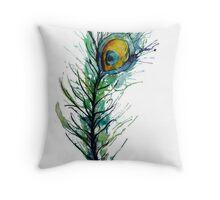 peacock rainbow. Throw Pillow