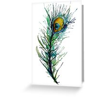 peacock rainbow. Greeting Card