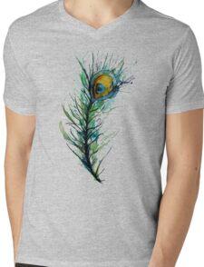 peacock rainbow. Mens V-Neck T-Shirt