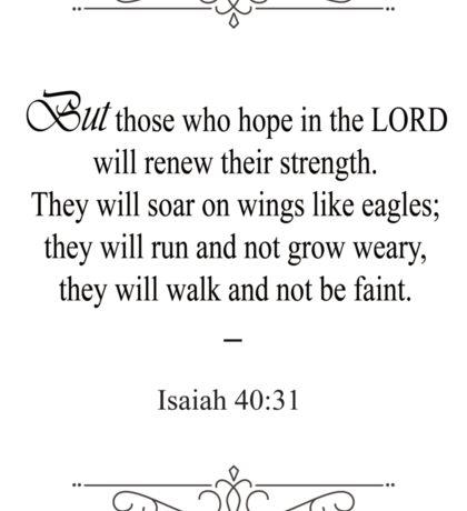 Isaiah 40:31 Bible Verse Sticker