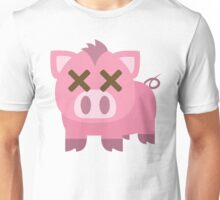 Pig Emoji Fainted and Passed Out Face Unisex T-Shirt