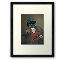 Gentlemen's club of exquisite plumage. Framed Print