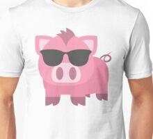 Pig Emoji Cool Sunglasses Look Unisex T-Shirt
