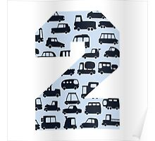 Number 2 cars Poster