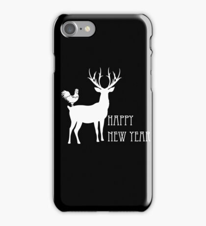 Happy new year Black iPhone Case/Skin