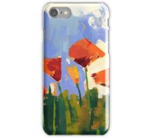 Poppy field iPhone Case/Skin