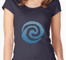 moana letter Women's Fitted Scoop T-Shirt
