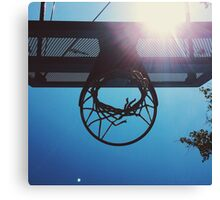 Shining hoops star Canvas Print