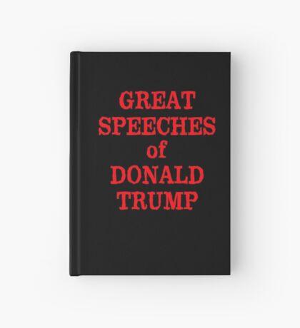 GREAT SPEECHES OF Donald Trump Empty Book Hardcover Journal
