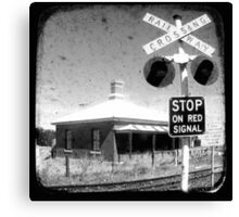 Stop on Red Canvas Print