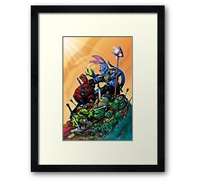Salty Roo - Tonight, we dine on turtle soup! Framed Print