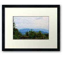 Mountain View Framed Print