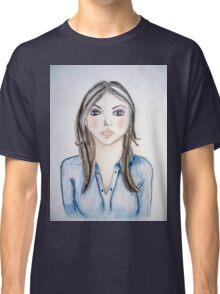 Blue blouse girl Classic T-Shirt