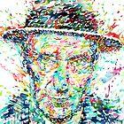 WILLIAM BURROUGHS watercolor portrait by lautir