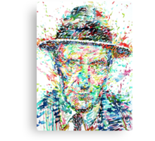 WILLIAM BURROUGHS watercolor portrait Canvas Print