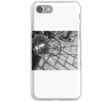 Black and White Bicycle Spoke iPhone Case/Skin