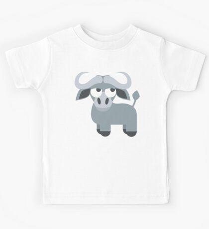 Water Buffalo Emoji Thinking Hard and Hmm Face Kids Tee