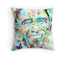 BARACK OBAMA - watercolor portrait Throw Pillow