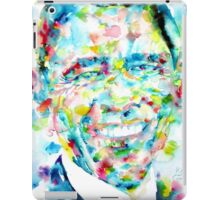 BARACK OBAMA - watercolor portrait iPad Case/Skin