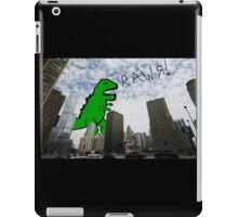 Rawr! Dinosaur T Rex attacking Chicago iPad Case/Skin