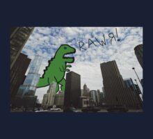 Rawr! Dinosaur T Rex attacking Chicago Kids Clothes