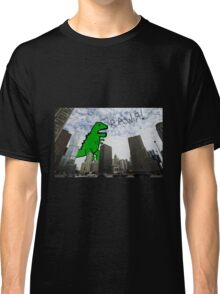 Rawr! Dinosaur T Rex attacking Chicago Classic T-Shirt