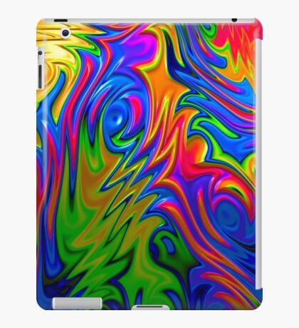 Psychedelic Rainbow Fractal iPad Case/Skin