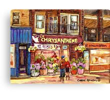 FLEURISTE CHRYSANTHEME VERDUN BOUTIQUE MONTREAL  Canvas Print