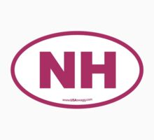 New Hampshire NH Euro Oval PINK Kids Clothes