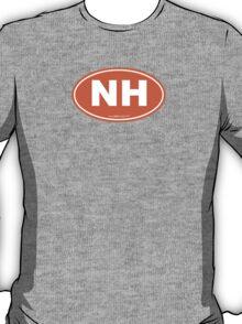 New Hampshire NH Euro Oval ORANGE T-Shirt