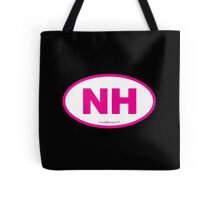New Hampshire NH Euro Oval PINK Tote Bag
