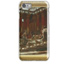 Edward Poynter - The Visit Of The Queen Of Sheba To King Solomon 1890. Poynter - woman portrait. iPhone Case/Skin
