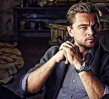 Leonardo Di Caprio Digital Portrait by digipaint