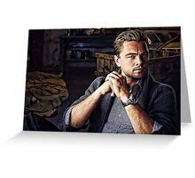 Leonardo Di Caprio Digital Portrait Greeting Card