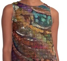 Burgundy Abstract'n Contrast Tank