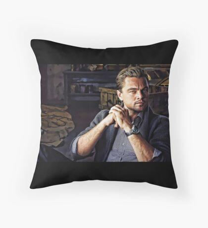 Leonardo Di Caprio Digital Portrait Throw Pillow