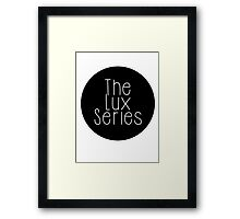 The Lux Series - Black Circle Framed Print