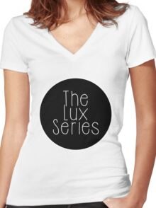 The Lux Series - Black Circle Women's Fitted V-Neck T-Shirt